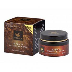 Восстанавливающий крем с медом и кофе, Veda Vedica