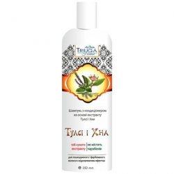Аюрведический растительный шампунь-кондиционер для окрашенных волос Тулси и Хна, Triuga Herbal
