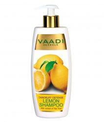 Аюрведический шампунь против перхоти Лимон и чайное дерево, Vaadi Herbals