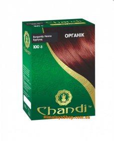 Травяная краска для волос Chandi Organic, Бургунд