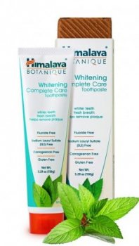 Органическая отбеливающая зубная паста с мятой, Himalaya Botanique