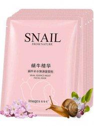 Тканевая маска для лица с муцином улитки (Мoisturizing firming snail essence face mask), Images