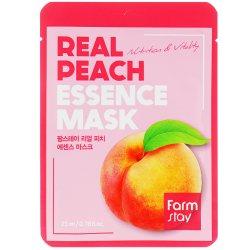 Маска тканевая для лица с экстрактом персика (Real Peach Essence Mask), Farmstay