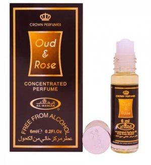 Женские масляные духи Oud and Rose, Al Rehab