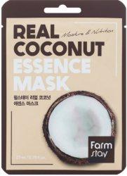 Тканевая маска для лица с экстрактом кокоса (Real Coconut Essence Mask), Farmstay
