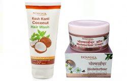 Кокосовый шампунь и Увлажняюший крем для лица, Patanjali