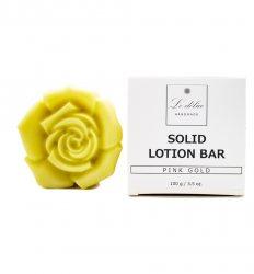 Натуральный твердый лосьон для тела Розовое Золото (Solid Lotion Bar Pink Gold), Le delice