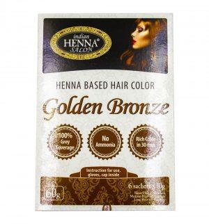 Краска для волос Золотистая Бронза (Henna Based Hair Colour Golden Bronze), Indian Henna Salon