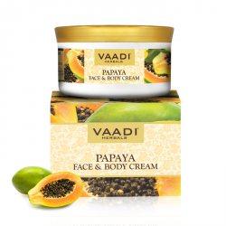 Мультивитаминный крем для лица и тела Папайя, Vaadi Herbals