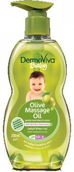 Детское массажное масло с оливковым маслом, DermoViva Baby