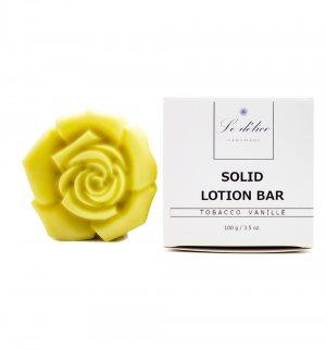 Натуральный твердый лосьон для тела Тобако Ваниль (Solid Lotion Bar Tobacco Vanille), Le delice
