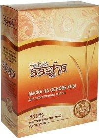 Натуральная маска для укрепления волос и от перхоти на основе индийской хны, AASHA Herbals