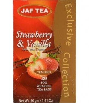 Чай Jaf Tea Strawberry&Vanilla в пакетиках