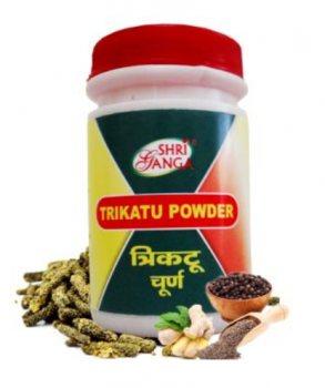 Средство для похудения Трикату Чурна (Trikatu churna), Shri Ganga
