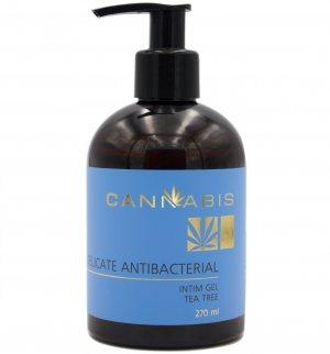 Деликатный антибактериальный гель для интимной гигиены с чайным деревом и экстрактом каннабиса, Cannabis