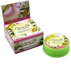 Тайская зубная паста-таблетка с маслом гвоздики, мяты и ромашки (Clove Oil), Rochjana