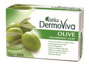 Питательное мыло с оливками Olive, Vatika DermoViva