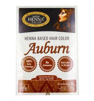 Краска для волос Золотистый Каштан (Henna Based Hair Colour Auburn), Indian Henna Salon