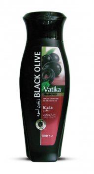 Шампунь с черными оливками для тусклых и слабых волос, Vatika Dabur