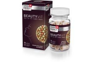 "Витамины ""БьютиВит"" Витамины A + C + E + Селен + Коэнзим Q10 + Биотин (Vitamins BeautyVit), Swiss Energy"