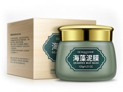 Противовоспалительная маска для лица с вулканической грязью и зелеными бобами (Green Beans Mud Wrap) (BQY0740), Bioaqua
