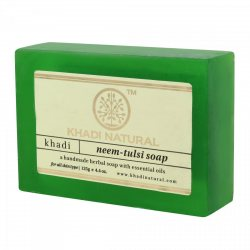 Аюрведическое мыло ручной работы НИМ-ТУЛСИ, Khadi