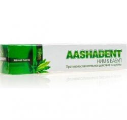 Зубная паста Ним и Бабул АASHADENT, Aasha Herbals