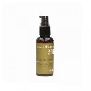 Крем-сыворотка с антивозрастным эффектом и защитой от ультрафиолета с экстрактом каннабиса (Face Cream Serum anti-age effect UV protection), Cannabis