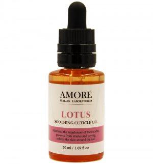 Концентрированное смягчающее масло для ногтей и кутикул с лотосом, AMORE