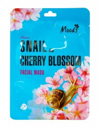 Питательная тканевая маска для нормальной и жирной кожи с муцином улитки и вишневым экстрактом (Snail Cherry Blossom Facial Mask), Moods