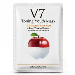 Тканевая маска для лица восстанавливающая с экстрактом яблока (V7 Toning Youth Mask Seven Vitamins Essence) (BQY9248), Bioaqua