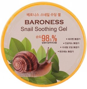 Гель с муцином улитки успокаивающий 98,5% (Snail Soothing Gel), Baroness