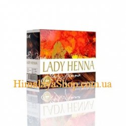 Краска для волос на основе хны Lady Henna, Каштановая