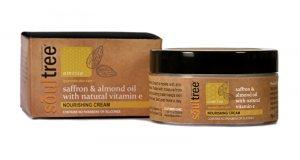 Органический дневной питательный крем для лица с шафраном, миндальным маслом и витамином Е, Soultree
