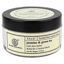 Крем для ног против трещин Жасмин и Зеленый чай, Khadi