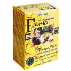 Аюрведическая глина Мултани Митти с добавлением 3 растений, Triuga Herbal