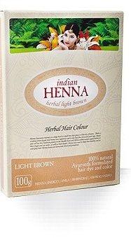 Краска для волос на основе хны Светло-коричневая (Light Brown), Indian Henna