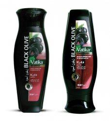 Шампунь и кондиционер с черными оливками, Vatika Dabur