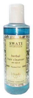 Аюрведический травяной шампунь с маслом мяты (Swati), Khadi