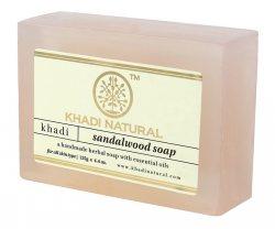 Натуральное мыло ручной работы Сандал ( Sandalwood soap), Khadi