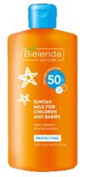 Защитное молочко для загара для детей и младенцев SPF 50 (SUN CARE), Bielenda