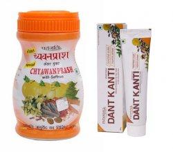 Чаванпраш с шафраном и зубная паста Дант Канти, Patanjali