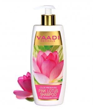 Аюрведический шампунь для окрашеных волос Лотос и Жимолость, Vaadi Herbals