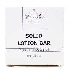 Натуральный твердый лосьон для тела Белые Цветы (Solid Lotion Bar White Flowers), Le delice