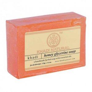 Натуральное мыло ручной работы Медовое  (Honey glycerin soap), Khadi