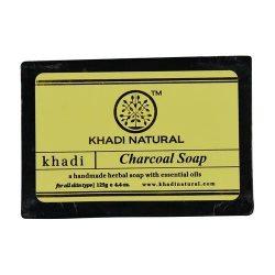 Аюрведическое мыло ручной работы Активированный уголь (Charcoal soap), Khadi