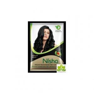 Хна для окрашивания волос в порошке Nisha, черная