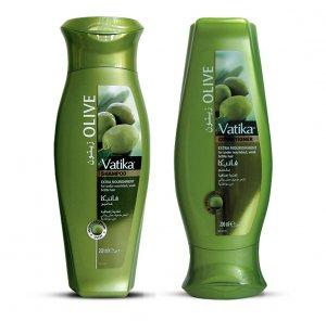 Шампунь и кондиционер с зелеными оливками, Vatika Dabur