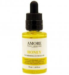 Концентрированное питательное масло для ногтей и кутикул с медом, AMORE