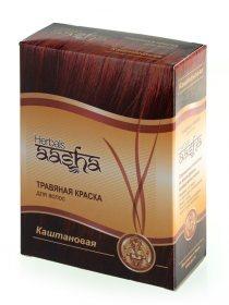 Травяная краска для волос Aasha Herbals, Каштановая